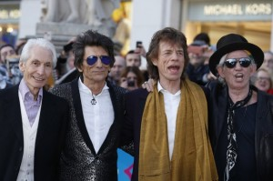 Les Rolling Stones lors du vernissage de l'exposition à Londres. Photo Reuters